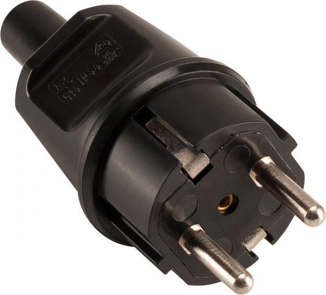 SLV IP44 STECKER schwarz