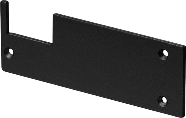 SLV ENDKAPPEN für GLENOS Profi-Wandträger-Profil, schwarz matt, 2 Stück