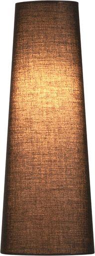 SLV FENDA Leuchtenschirm, konisch, schwarz, Ø/H 15/40 cm
