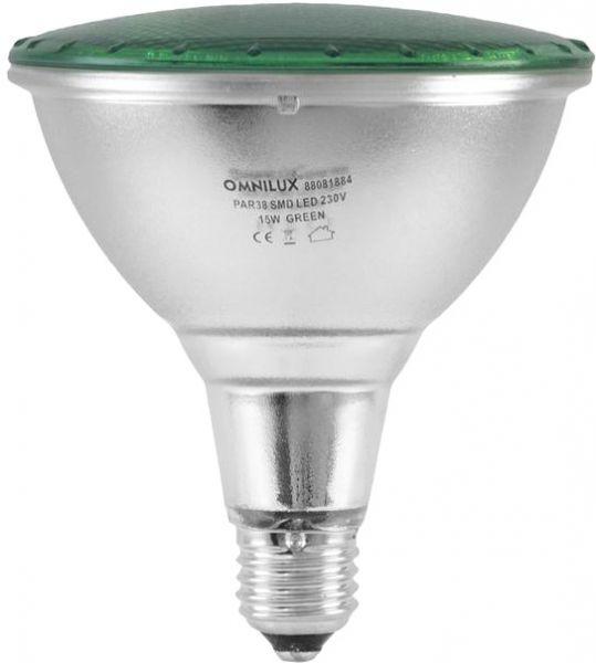 OMNILUX PAR-38 230V SMD 15W E-27 LED grün