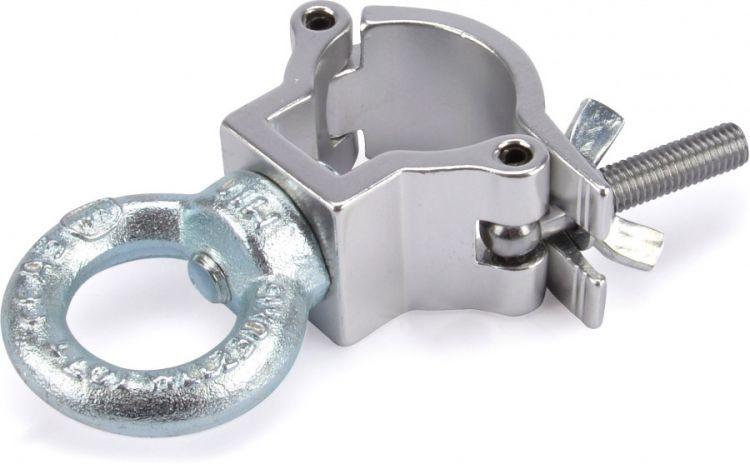 Riggatec Halbschelle - Halfcoupler klein silber m. Öse bis 75 kg (32-35mm)