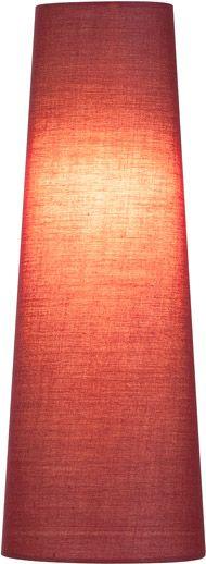 SLV FENDA Leuchtenschirm, konisch, weinrot, Ø/H 15/40 cm