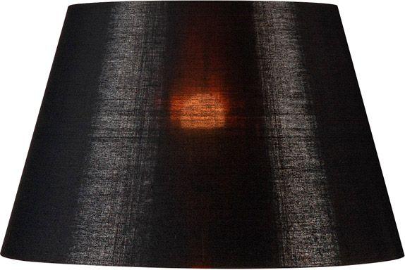 SLV FENDA Leuchtenschirm, konisch, schwarz/kupfer, Ø/H 45,5/28 cm