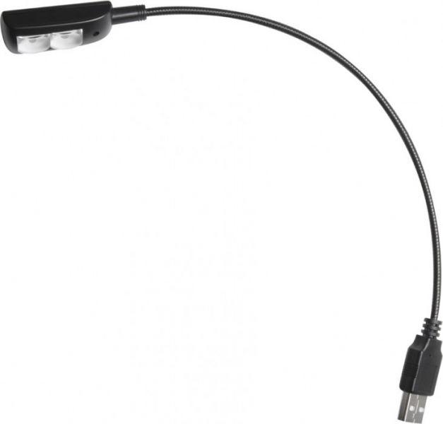 Adam Hall Stands SLED 1 USB PRO USB Schwanenhalsleuchte mit 2 LEDs