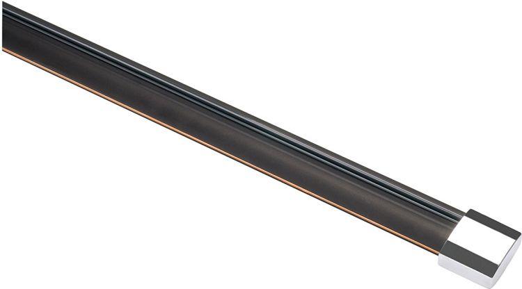 SLV EASYTEC II Schiene, schwarz, 2m, 2 Endkappen