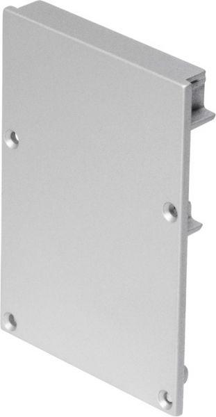 SLV Endkappe für GLENOS ALU-PROFIL mit Cover, silbergrau, 2 Stück