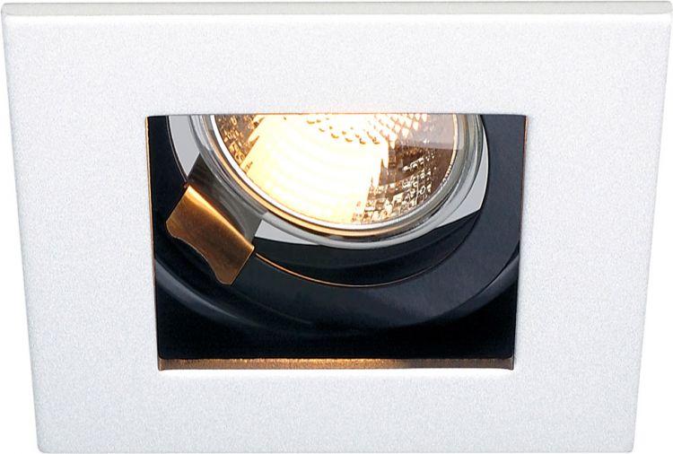 SLV INDI REC 1S Einbauleuchte, QPAR51, weiß matt, kardanisch, max. 50W