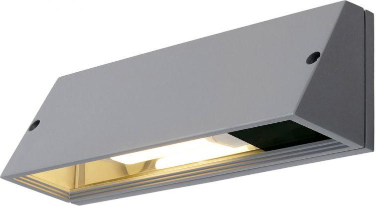 AlphaPlan-Artikel: SLV PEMA SQUARE Wandleuchte, silbergrau, E27, max. 15W