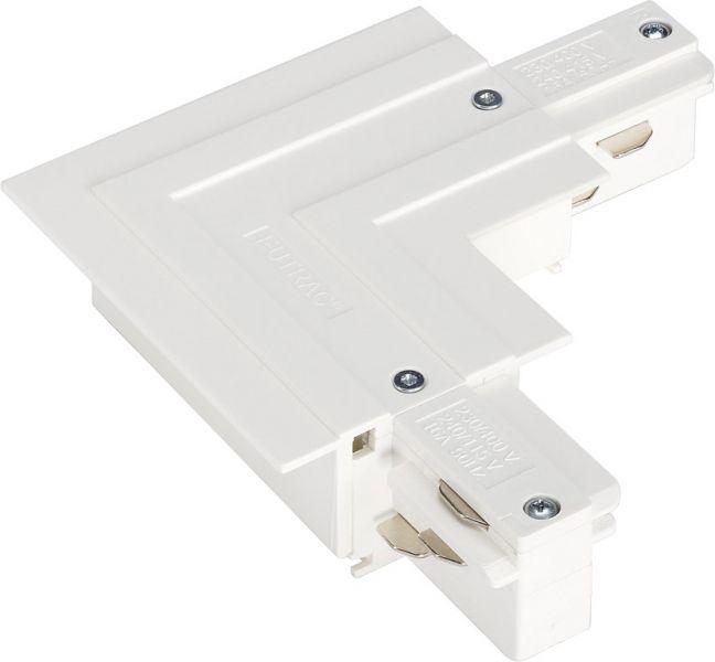 Eutrac 3 Phasen L-Verbinder für Einbauschiene, außen, weiß