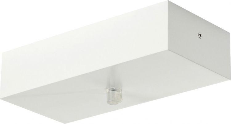 SLV Deckenrosette, mattweiß, 10,3cm x 22cm x 5,1cm