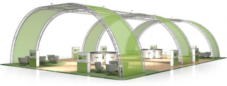 Messestand FD 33 - 21 x 13 x 5 m (LxBxH) - 273 m²