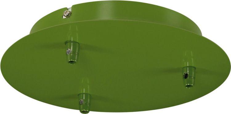SLV Deckenrosette, 3 Ausgänge, rund, farngrün, inkl. Zugentlastungen