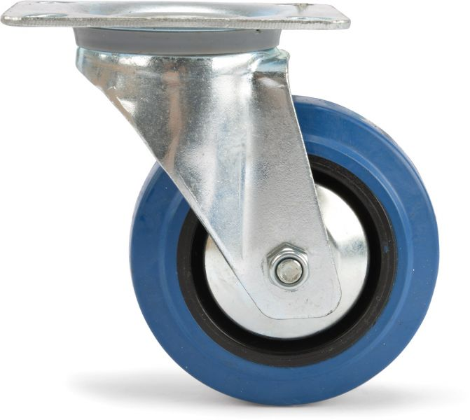AlphaPlan-Artikel: Riggatec Lenkrolle 100mm BLUE WHEEL hellblau