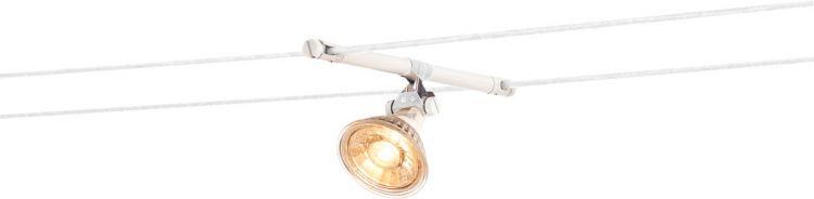 SLV COSMIC Lampenhalter f. TENSEO Niedervolt-Seilsystem, QR-C51, weiß