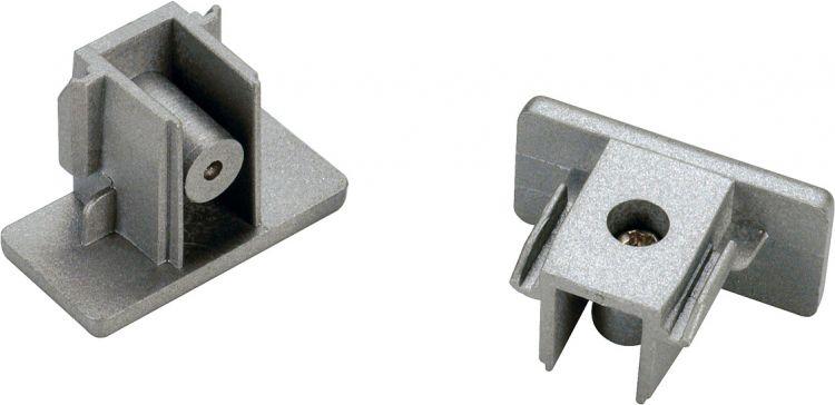 SLV Endkappen für 1-Phasen HV-Stromschiene, silbergrau 2 Stk.