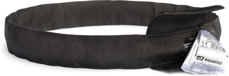 Riggatec Rundschlinge Steelflex Schwarz 1t, Nutzlänge:1,5 m - Umfang:3,0 m