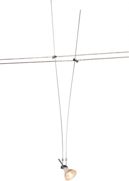 SLV SEILLEUCHTE für TENSEO Niedervolt-Seilsystem, QR-C51, chrom, 1 Stück