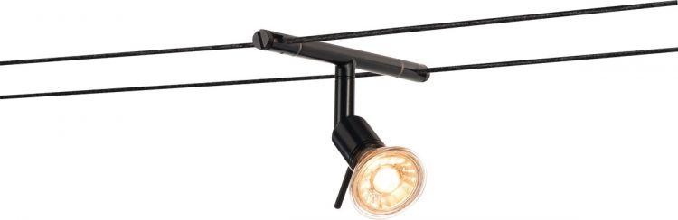 SLV SYROS Seilleuchte für TENSEO Niedervolt-Seilsystem, QR-C51, schwarz