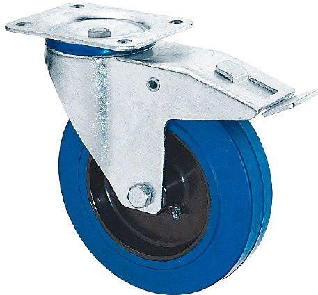 AlphaPlan-Artikel: Riggatec Lenkrolle mit Bremse 160mm BLUE WHEEL