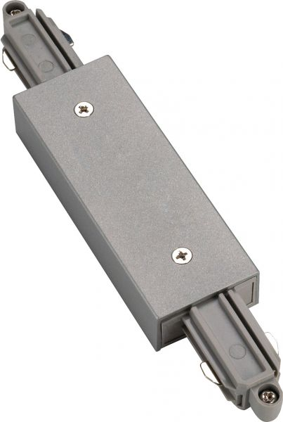 SLV Längsverbinder für 1-Phasen HV-Stromschiene, silbergra