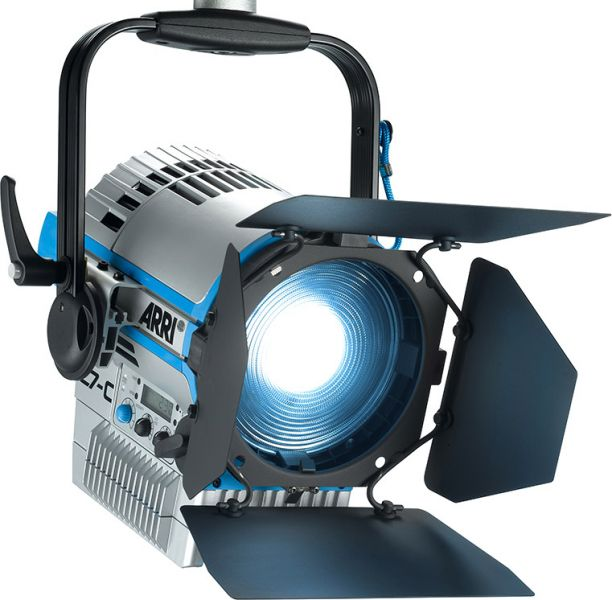 ARRI L7-C LE2, Fresnel, STAND-MOUNT, RGBW, blau-silber, mit Schuko