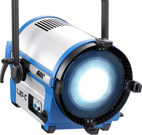 ARRI L10-C, Fresnel, STAND-MOUNT, RGBW, blau-silber, mit Schuko