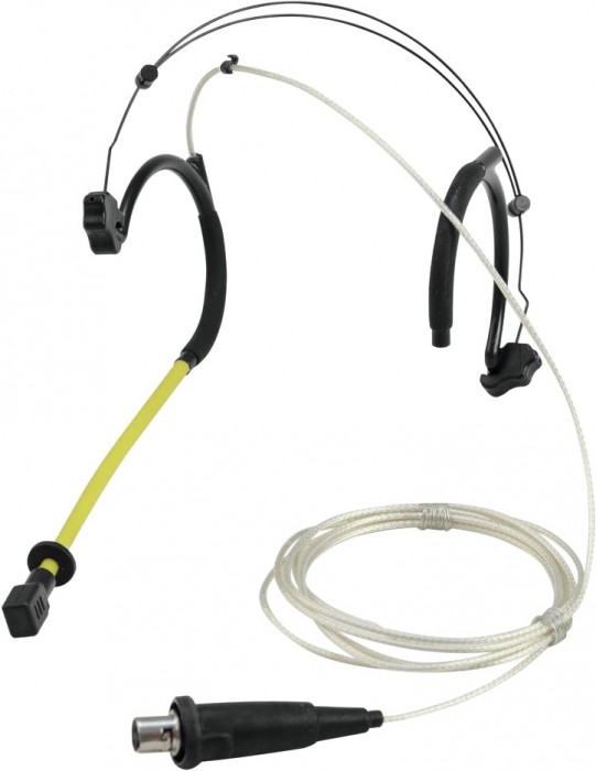 Omnitronic MOM-10BT4 Headset-Mikrofon Kopfbügelmikrofon Kondensator Mic Schwarz