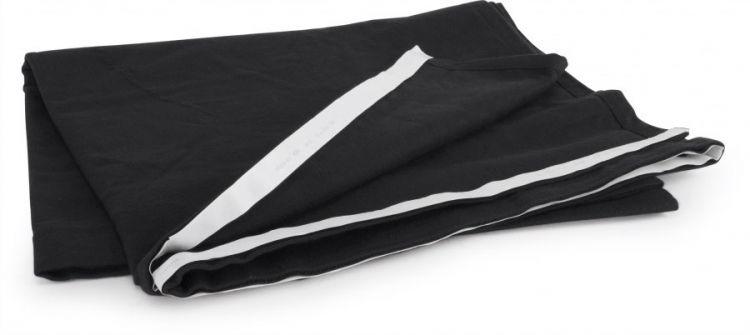 AlphaPlan-Artikel: Podestverkleidung aus Bühnenmolton schwarz, 200 x 40 cm
