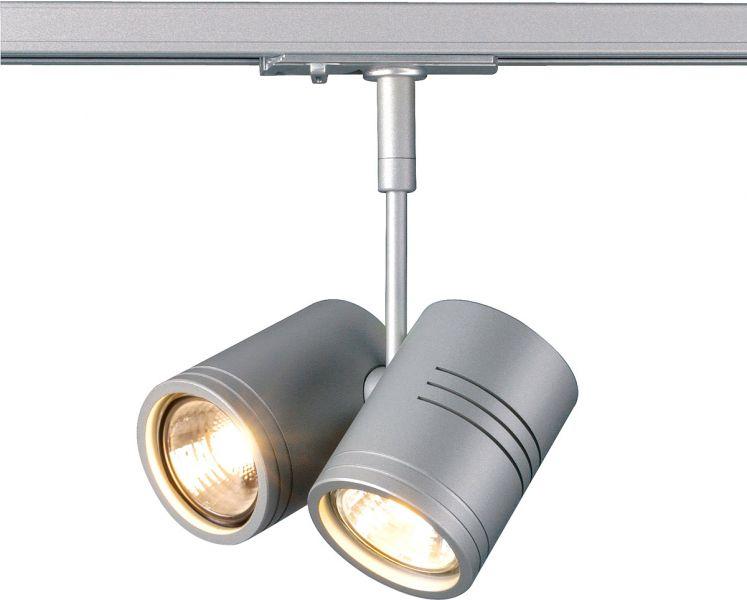 AlphaPlan-Artikel: SLV BIMA II Leuchtenkopf für 1-Phasen Schiene, silbergrau