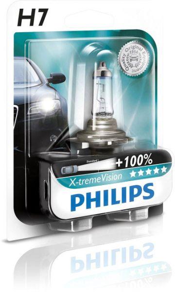 Philips Autolampe H7 X-treme Vision B1 55W 12V PX26d 12972XVB1