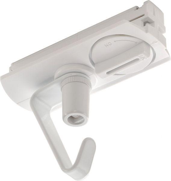 SLV Adapter für 1-Phasen Hochvolt- schiene, weiss, elektrisch, mit Haken