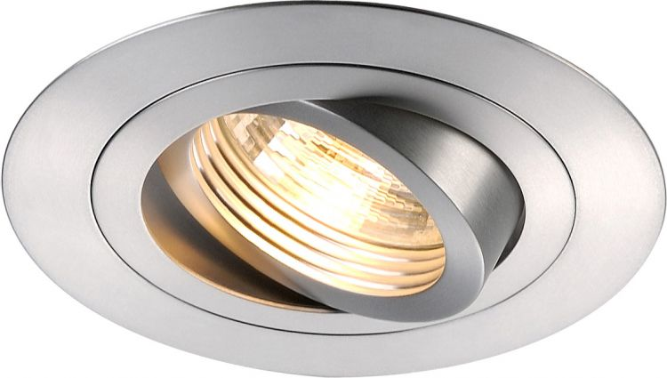 AlphaPlan-Artikel: NEW TRIA XL ROUND GU10 Downlight, alu brushed, max. 50W, inkl. Clipfedern