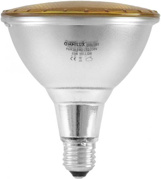 AlphaPlan-Artikel: OMNILUX PAR-38 230V SMD 15W E-27 LED gelb