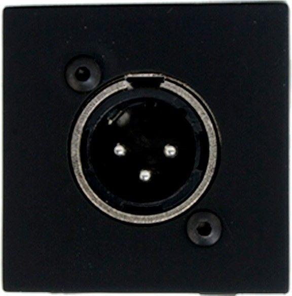 Audac CP 45 XLMB Anschlussplatte mit XLR male Buchse schwarz - 45 x 45 mm