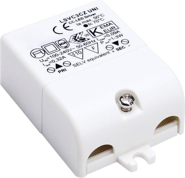 SLV LED-Treiber, 3VA, 320mA, inkl. Zugentlastung