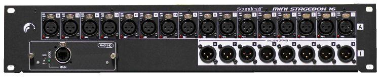 """Soundcraft Si Mini Stagebox 16 - 19"""" Stagebox für Einbau ins Bühnen-Rack"""