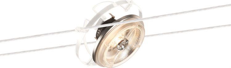 SLV QRB Seilleuchte für TENSEO Niedervolt-Seilsystem, QR111, weiß