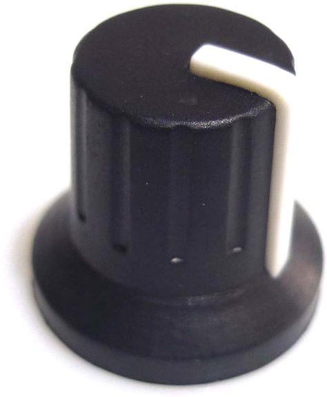 Drehknopf schwarz Ø=7 h=10 MP/MPZ/MPVZ