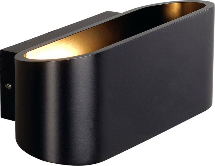 SLV OSSA R7s Wandleuchte, oval, matt black, R7s 78mm, max. 100W, up/down