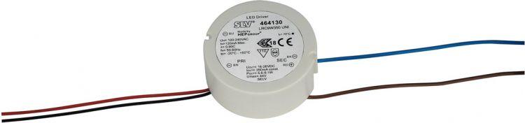 SLV LED-Treiber, 9W, 350mA, rund, ohne Zugentlastung