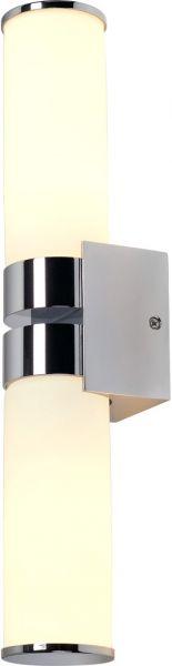 SLV CAMARA DOUBLE IP44 Wand- leuchte, chrom, 2xE14, max.60W