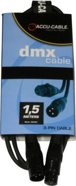 AlphaPlan-Artikel: DMX Kabel 3pin, 1,5m , 110 Ohm, AC3PDMX3