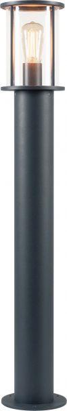 SLV PHOTONIA Wege- und Standleuchte, A60, rund, anthrazit, klares Glas