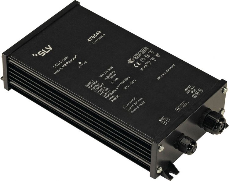 SLV LED NETZTEIL 150W, 24V, IP44, inkl. Kabelverschraubung