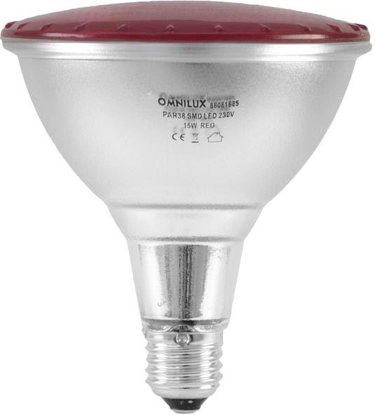 AlphaPlan-Artikel: OMNILUX PAR-38 230V SMD 15W E-27 LED rot