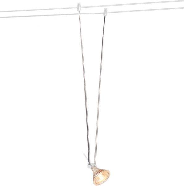SLV TELESKOP Seilleuchte f. TENSEO Niedervolt-Seilsystem, QR-C51, weiß