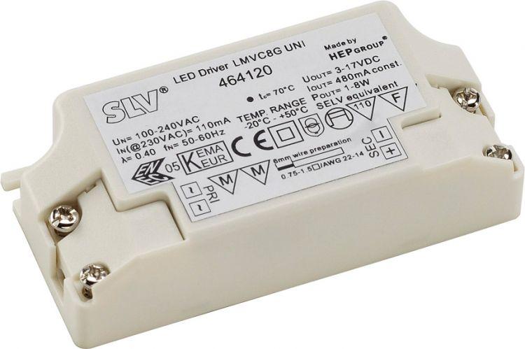 SLV LED-Treiber, 8VA, 480mA inkl. Zugentlastung