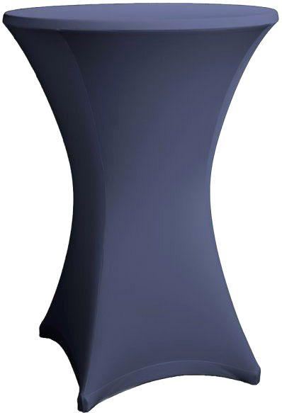 AlphaPlan-Artikel: Stehtisch Husse marineblau für 80-86 cm Durchmesser Stretch