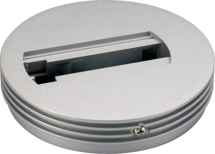 SLV Rosette für 1-Phasen Adapter, silbergrau