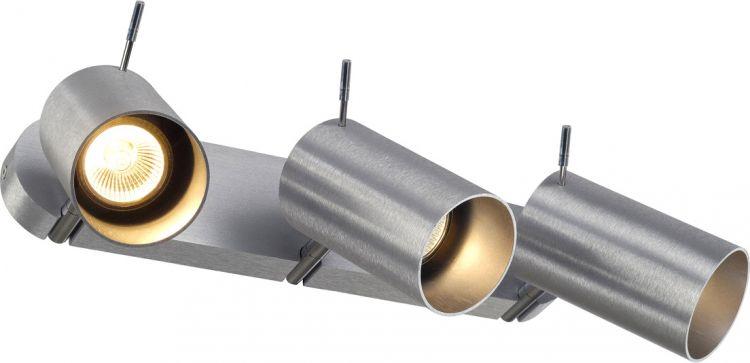 SLV ASTO TUBE III Deckenleuchte, alu brushed, 3xGU10, max. 75W